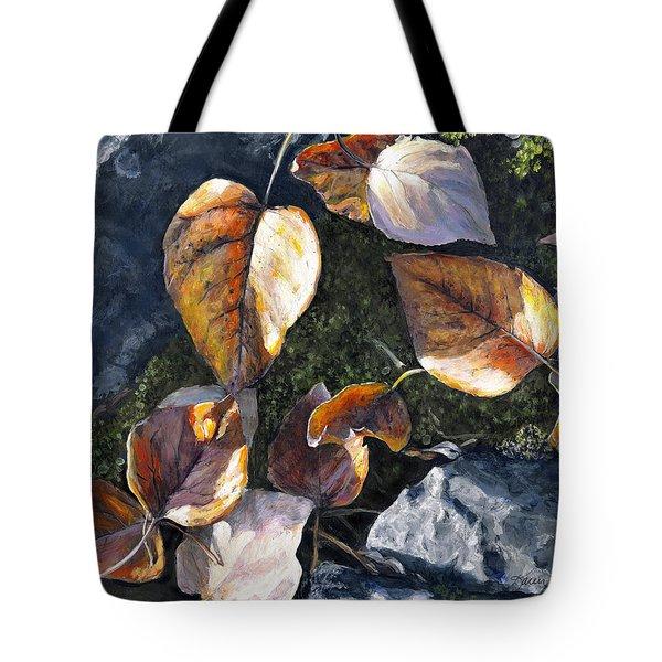 Knik River Autumn Leaves Tote Bag
