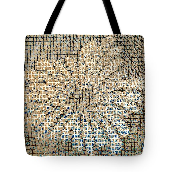 Tote Bag featuring the photograph Knit Net Flower 1 by Darla Wood