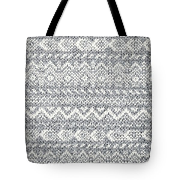 Knit Pattern Abstract Tote Bag