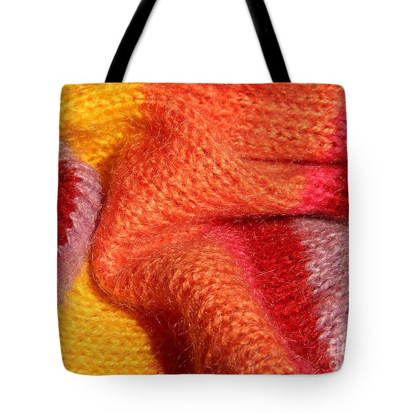 Knitted Textile Tote Bag by Kerstin Ivarsson