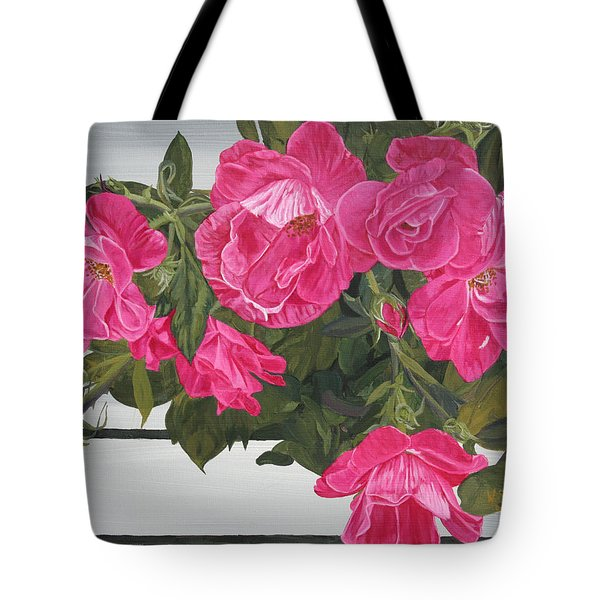 Knock Out Roses Tote Bag by Wendy Shoults
