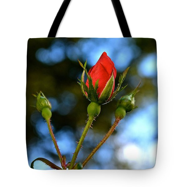 Knockout Rosebud Tote Bag