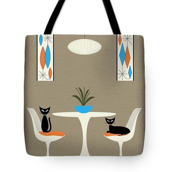 Tote Bag featuring the digital art Knoll Table by Donna Mibus