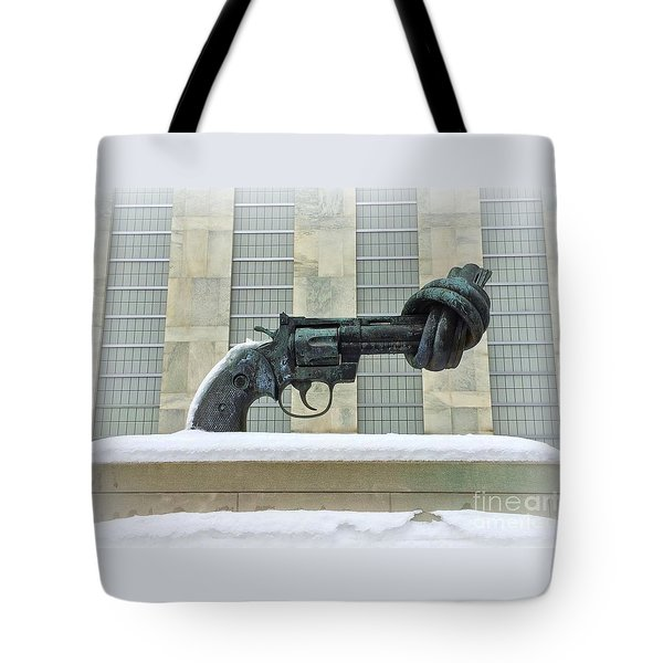 Knotted Gun Sculpture At The United Nations Tote Bag