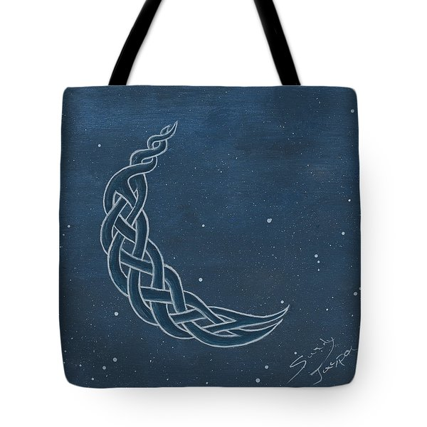 The Knotty Moon Tote Bag by Sandy Jasper