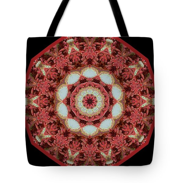 Tote Bag featuring the digital art Knotty Twists Kaleidoscope by Aliceann Carlton