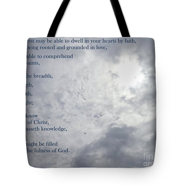 Knowing Love  Tote Bag by Christina Verdgeline