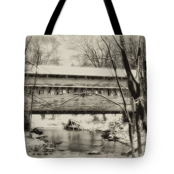 Knox Valley Forge Covered Bridge Tote Bag by Bill Cannon