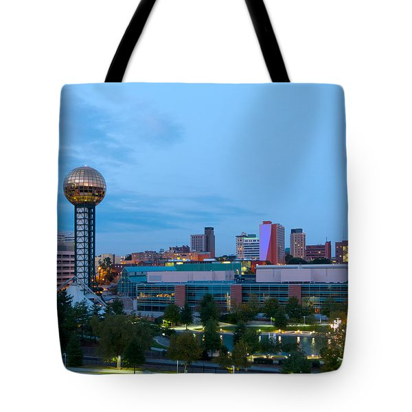 Knoxville At Dusk Tote Bag
