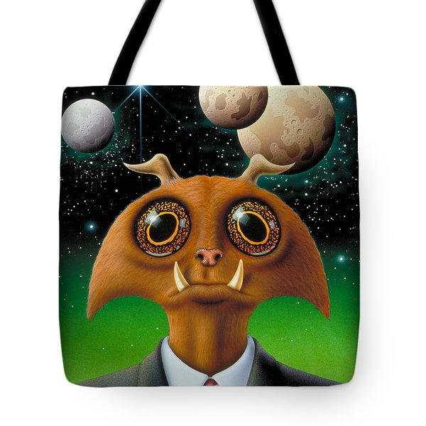 Tote Bag featuring the painting Knurr by WB Johnston