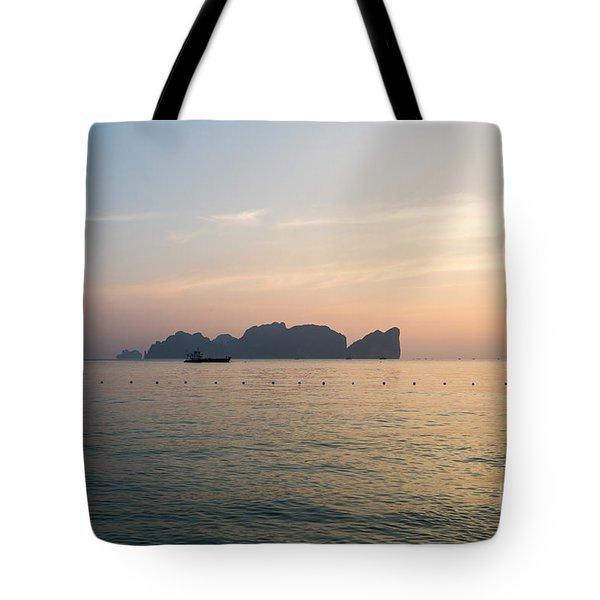 Ko Phi Phi Leh Island At Sunset - Thailand Tote Bag