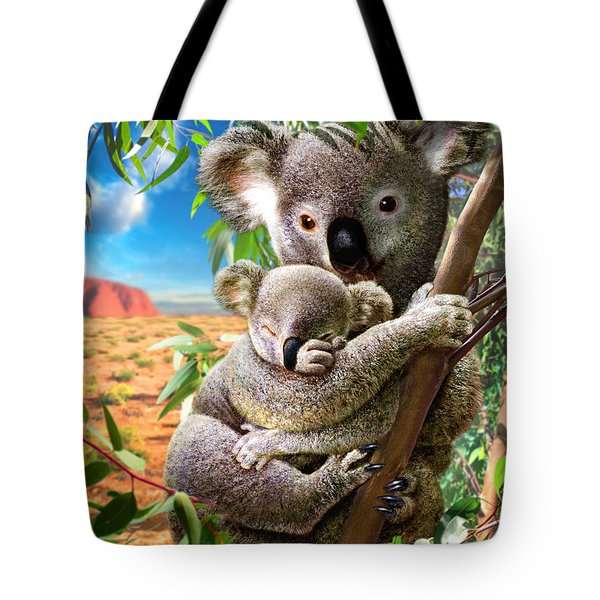 Koala And Cub Tote Bag by Adrian Chesterman