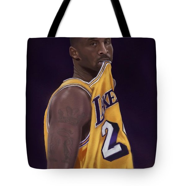 Kobe Bean Bryant Tote Bag by Jeremy Nash