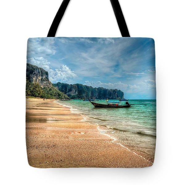 Koh Lanta Beach Tote Bag by Adrian Evans