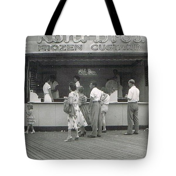 Kohr Bros Frozen Custard Atlantic City Nj Tote Bag by Joann Renner
