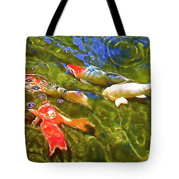 Tote Bag featuring the photograph Koi 1 by Pamela Cooper