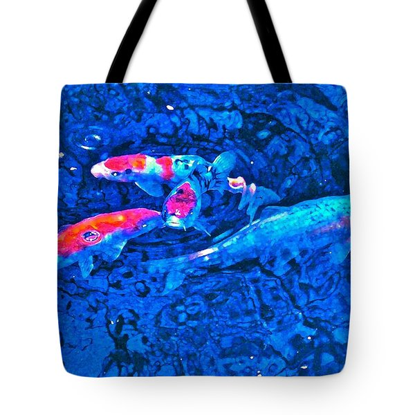 Tote Bag featuring the photograph Koi 2 by Pamela Cooper