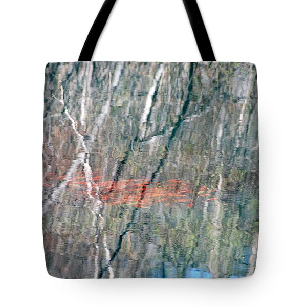 Koi Among The Birch Tote Bag