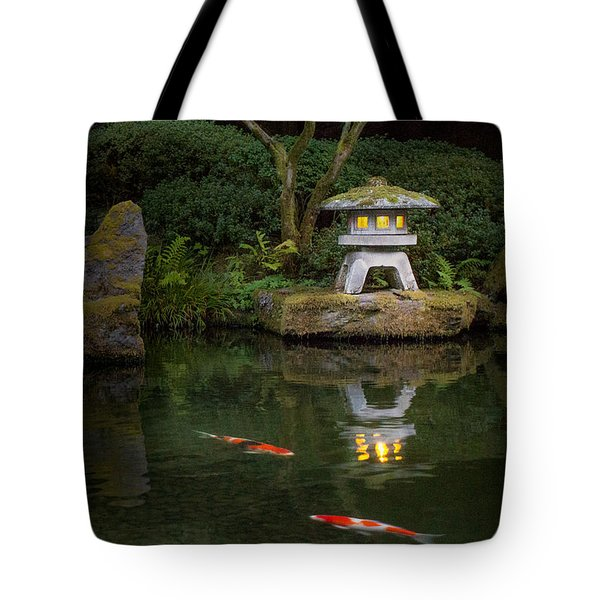 Koi By Lantern Light Tote Bag