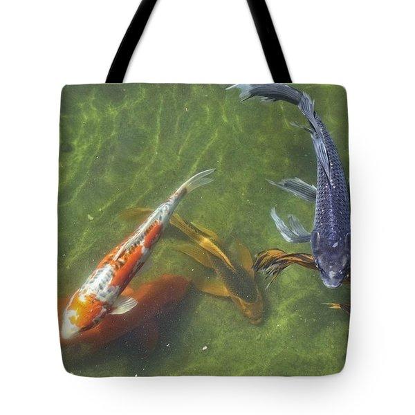 Koi Tote Bag by Daniel Sheldon