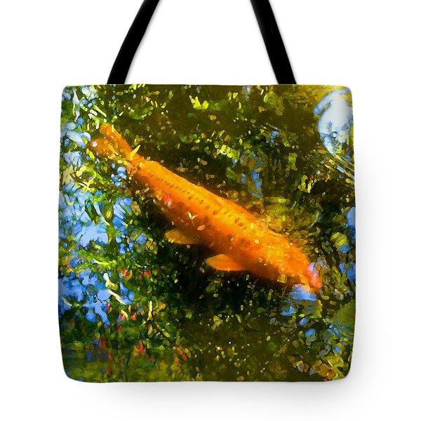 Koi Fish 1 Tote Bag by Amy Vangsgard
