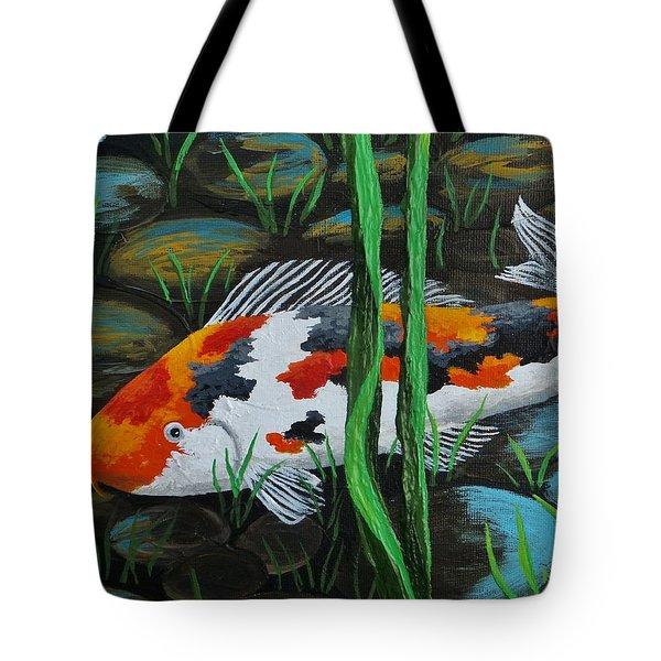 Koi Fish Tote Bag by Katherine Young-Beck