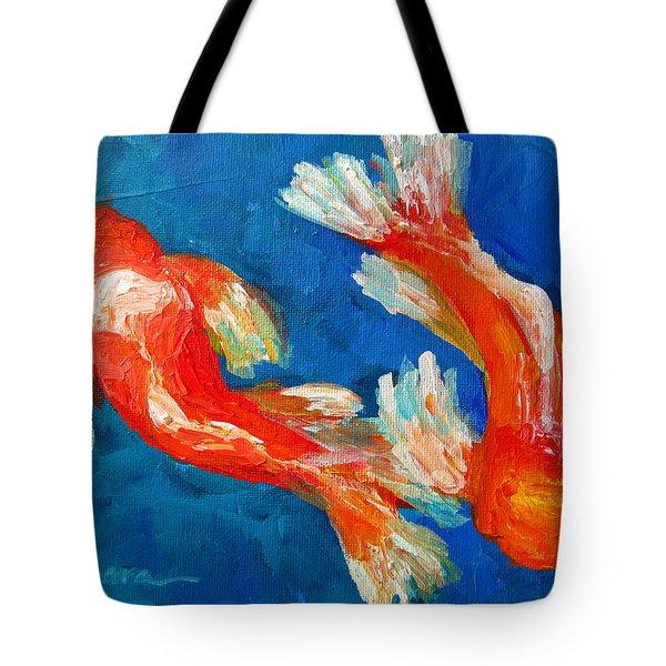 Koi Fish Tote Bag by Patricia Awapara