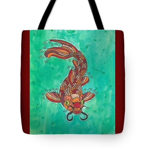 Tote Bag featuring the painting Koi Fish by Susie Weber