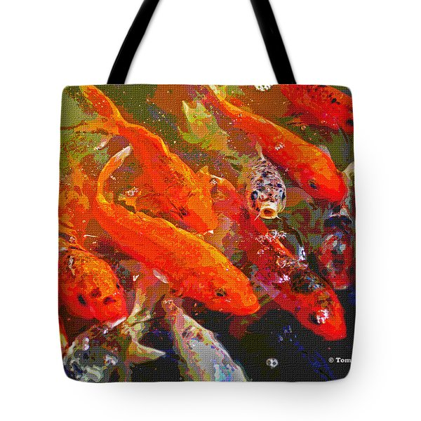 Koi Fish  Tote Bag by Tom Janca
