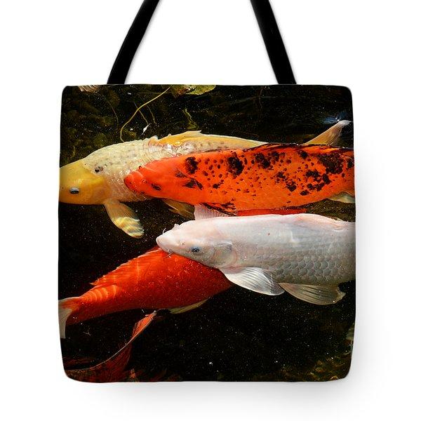 Koi Gathering Tote Bag