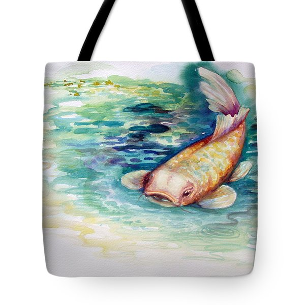 Tote Bag featuring the painting Koi I by Ashley Kujan