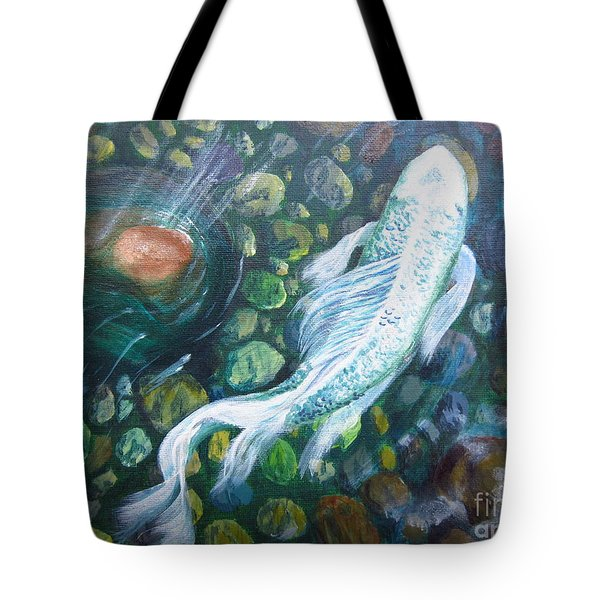 Koi Tote Bag by Laurianna Taylor