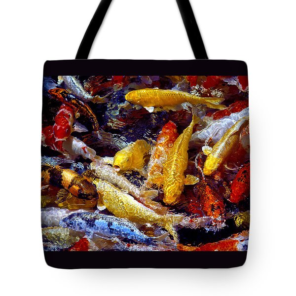 Tote Bag featuring the photograph Koi Pond by Marie Hicks