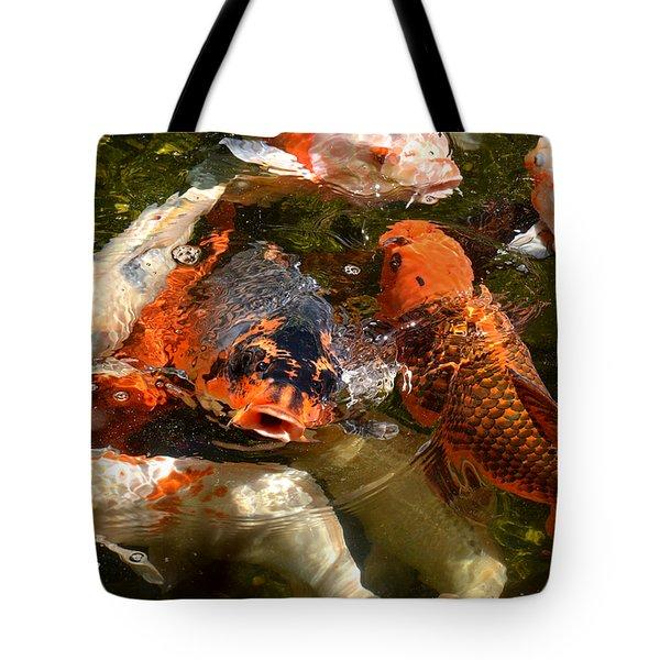 Koi Rising Tote Bag