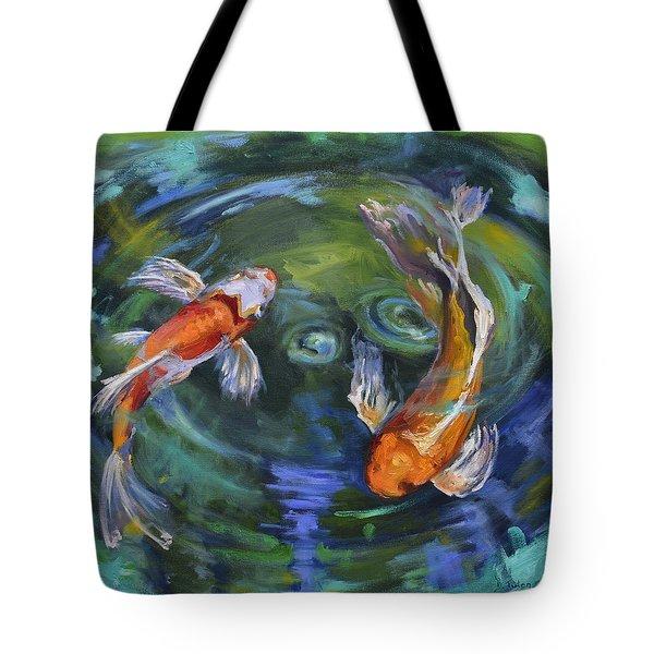 Koi Swirl Tote Bag