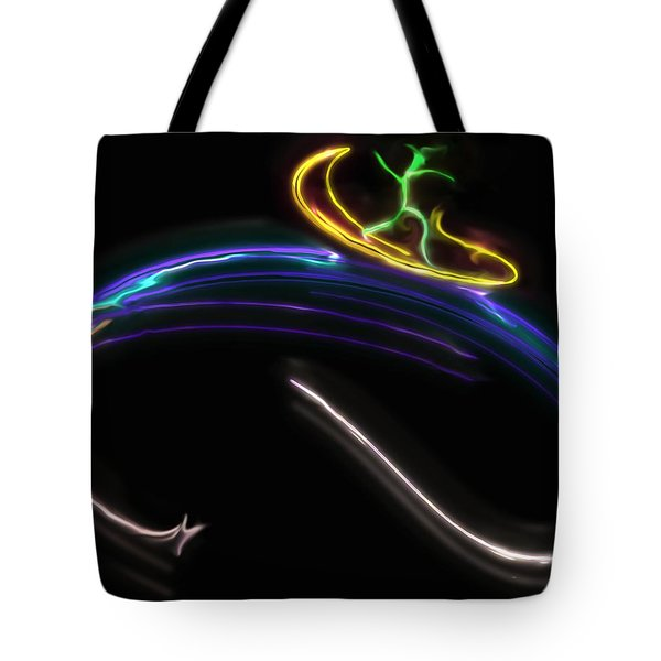 Koko Catches A Wave Tote Bag by RC DeWinter