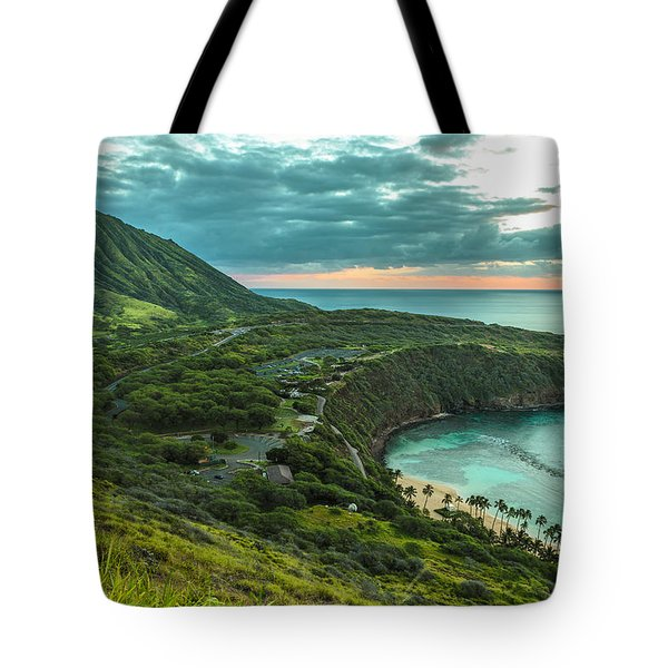 Koko Head Crater And Hanauma Bay 1 Tote Bag by Leigh Anne Meeks