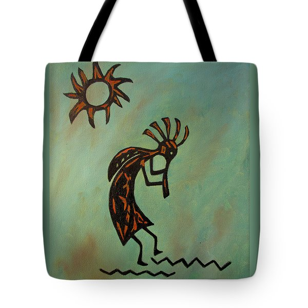 Kokopelli Flute Player Tote Bag by Roseann Gilmore