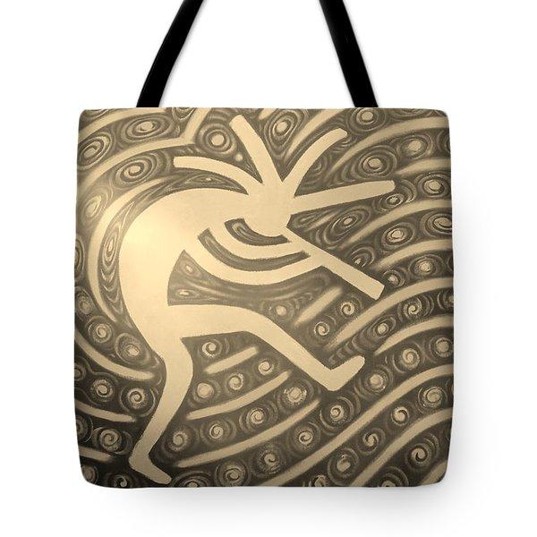 Kokopelli In Sepia Tote Bag