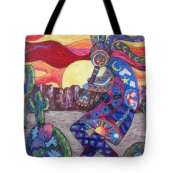 Kokopelli  Tote Bag by Megan Walsh