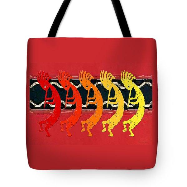 Kokopelli Quintet 4 Tote Bag
