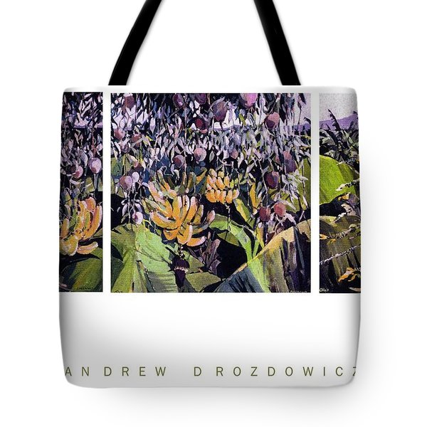 Tote Bag featuring the painting Kona Garden by Andrew Drozdowicz