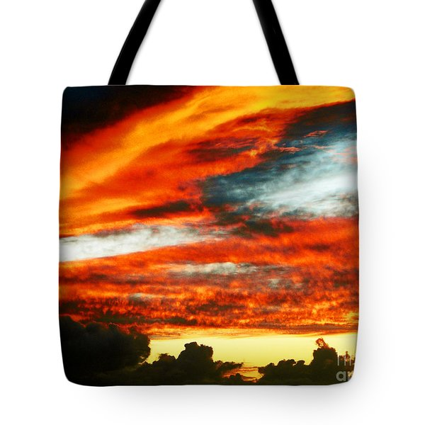 Tote Bag featuring the photograph Kona Sunset 77 Lava In The Sky  by David Lawson