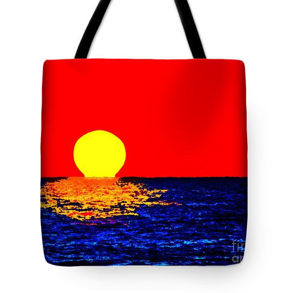 Kona Sunset Pop Art Tote Bag