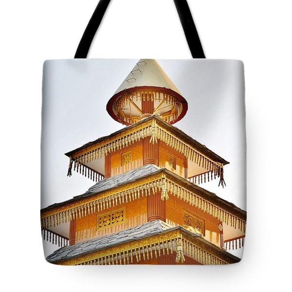 Kondar Devata Temple Tote Bag by Kim Bemis