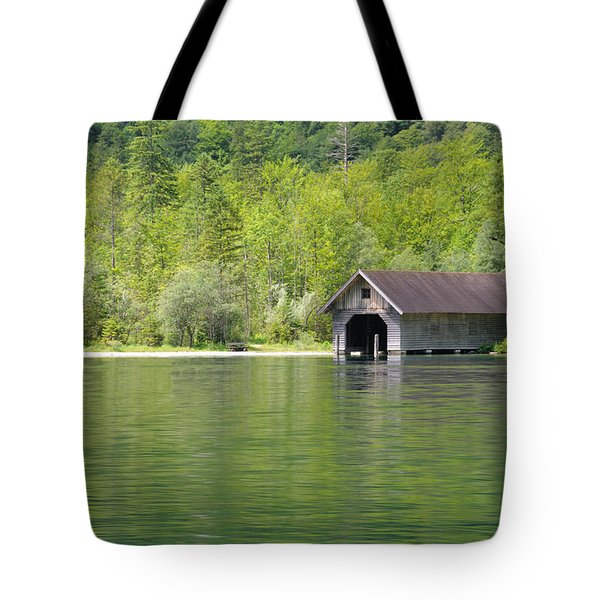 Konigsee Boathouse Tote Bag