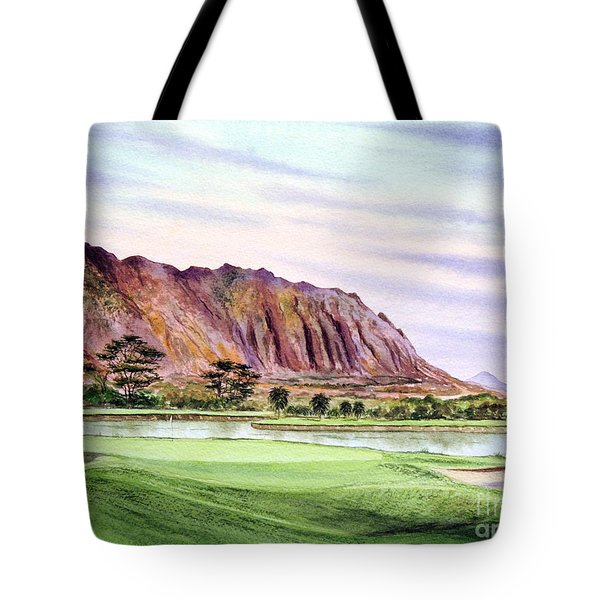 Koolau Golf Course Hawaii 16th Hole Tote Bag