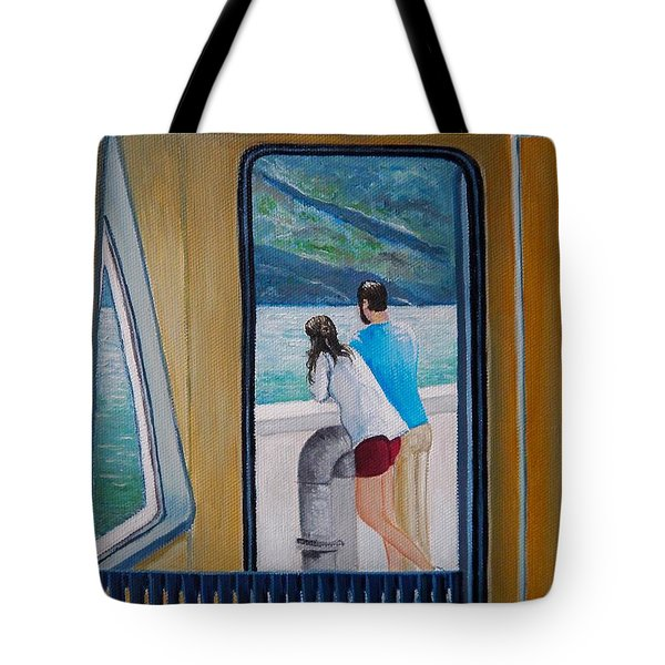 Kootenay Lake Ferry Tote Bag
