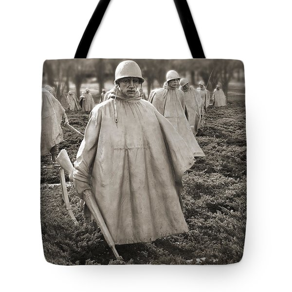 Korean War Memorial - Washington D.c. Tote Bag by Mike McGlothlen