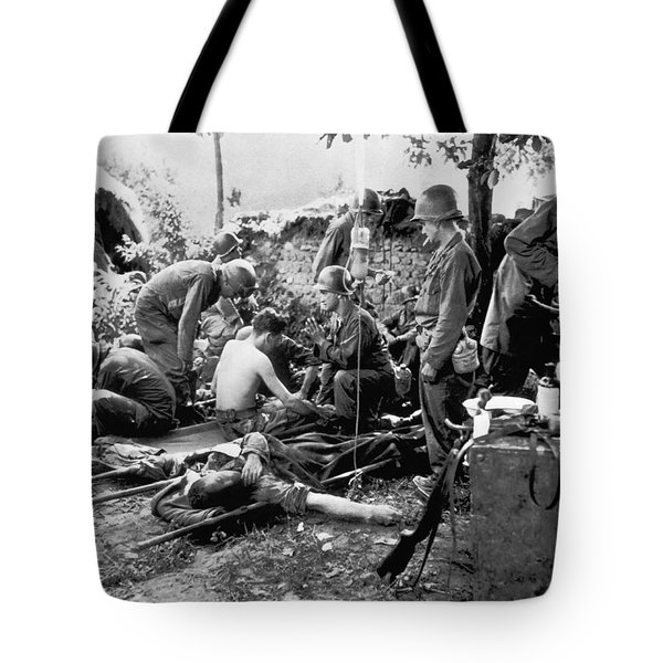 Korean War Wounded Tote Bag